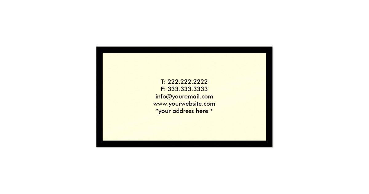 Lawyer Attorney Simple Plain Black Border Business Card : Zazzle
