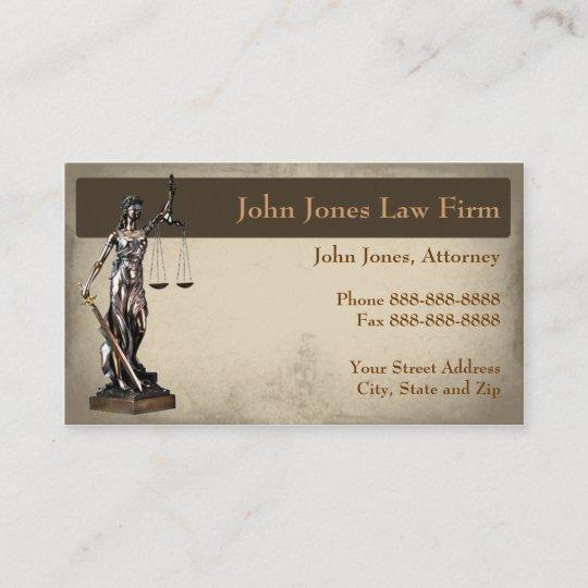 Lawyer Attorney Symbol Legal Business Card Zazzle Com