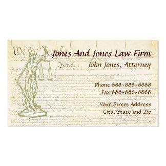 Lawyer Attorney Symbol Legal Business Card