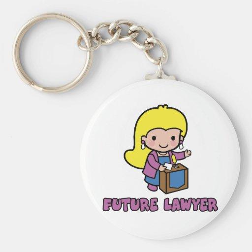 Lawyer Basic Round Button Keychain