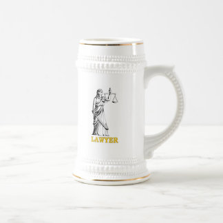 LAWYER BEER STEIN