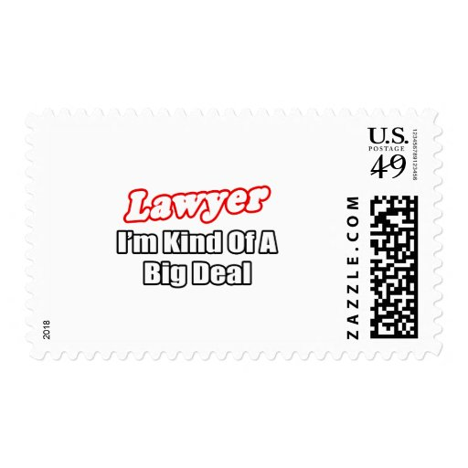 Lawyer...Big Deal Postage Stamps