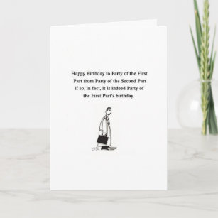 Lawyer Birthday Cartoon Gretting Card