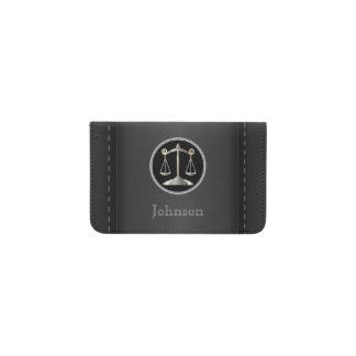 Lawyer   Black Leather   Personalize Business Card Holder
