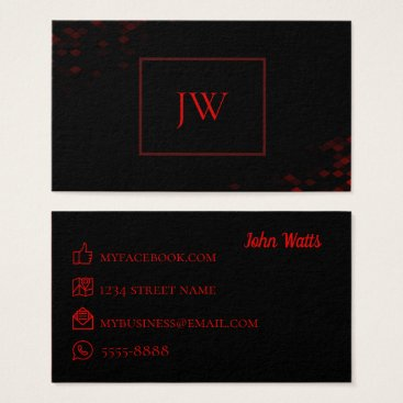 Lawyer Themed Lawyer Business Card Black and Red
