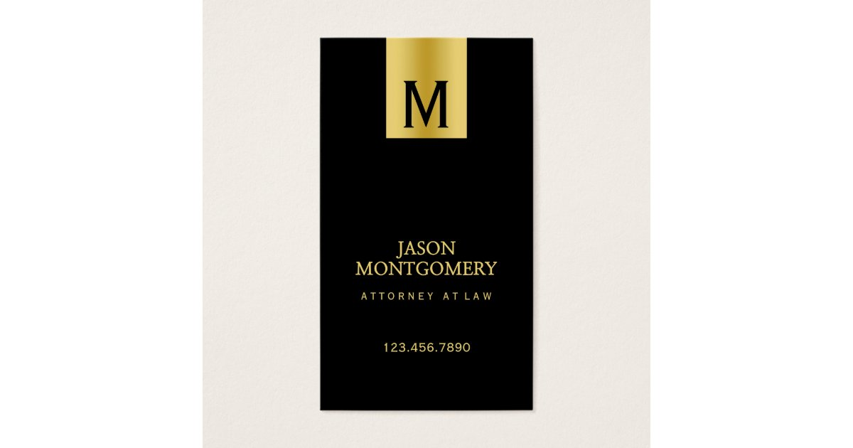 Lawyer business card design Black and gold | Zazzle.com