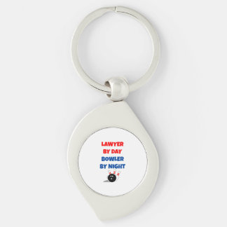 Lawyer by Day Bowler by Night Keychain
