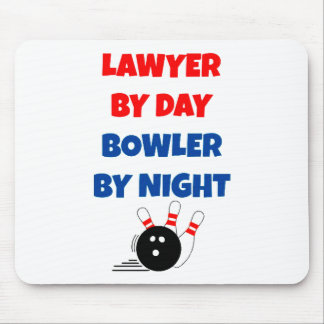 Lawyer by Day Bowler by Night Mouse Pad