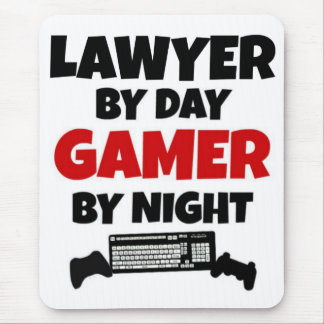 Lawyer by Day Gamer by Night Mouse Pad