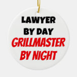 Lawyer by Day Grillmaster by Night Christmas Tree Ornaments