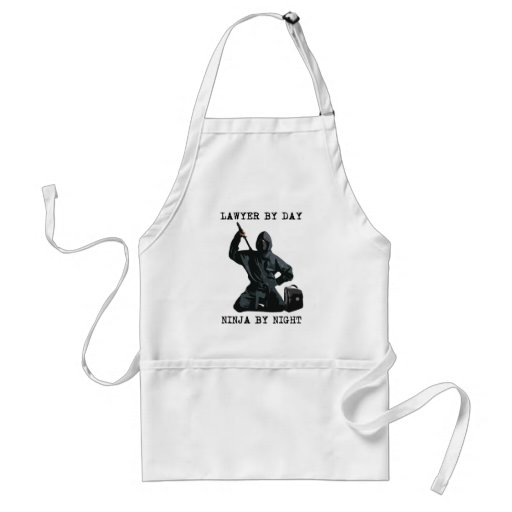 Lawyer By Day, Ninja By Night Aprons