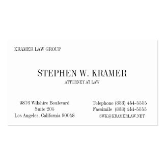 Lawyer Card Business Card