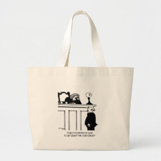 Lawyer Cartoon 5298 Large Tote Bag