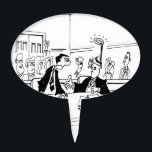 """Lawyer Cartoon 5299 Cake Topper<br><div class=""""desc"""">Man with fake halo on head says to his lawyer,  &quot;But you told me to try and look innocent.&quot;</div>"""