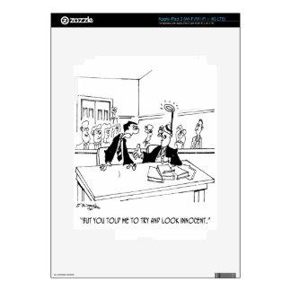 Lawyer Cartoon 5299 Decals For iPad 3