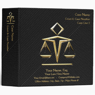 Lawyer Case Book v4 (Personalized) Vinyl Binders