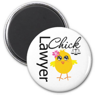 Lawyer Chick 2 Inch Round Magnet
