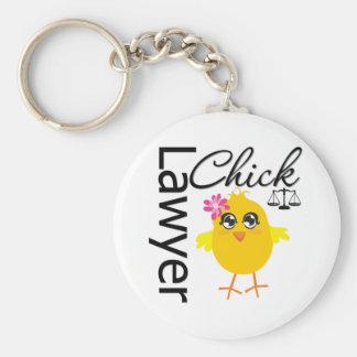 Lawyer Chick Basic Round Button Keychain