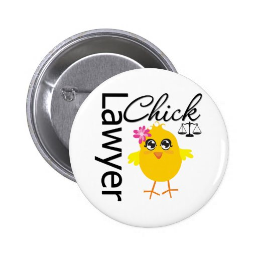Lawyer Chick Pinback Button