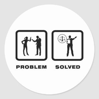 Lawyer Classic Round Sticker