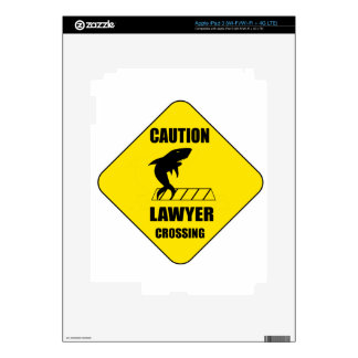 Lawyer Crossing with Shark iPad 3 Decals
