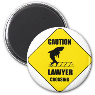 Lawyer Crossing with Shark Magnet