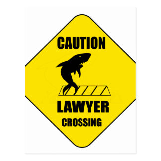 Lawyer Crossing with Shark Postcard