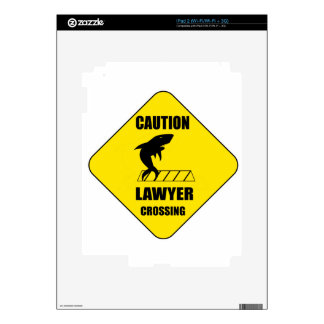 Lawyer Crossing with Shark Skin For iPad 2