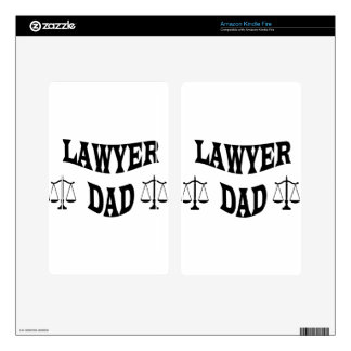 LAWYER DAD KINDLE FIRE DECALS