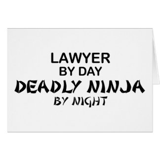 Lawyer Deadly Ninja by Night Card
