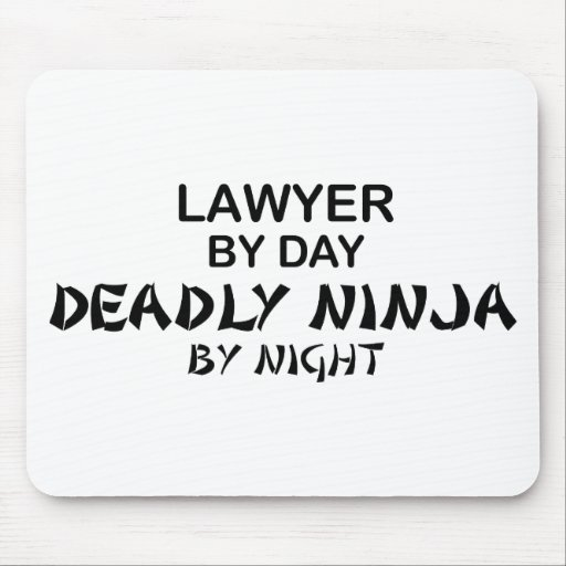 Lawyer Deadly Ninja by Night Mouse Pad