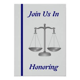 Lawyer (Doctor Of Law) Retirement Invitation