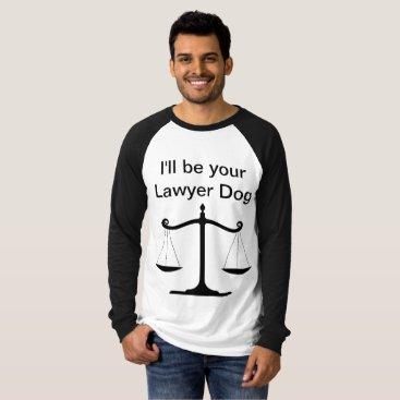 Lawyer Themed Lawyer Dog Men's Long Sleeve T-Shirt