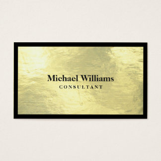 Lawyer - Elegant professional golden and black Business Card