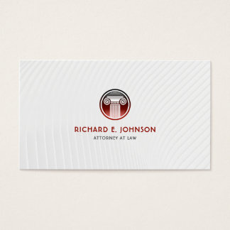 Lawyer Firm Attorney of law Red Court Pillar Icon Business Card