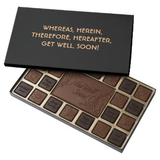 Lawyer Get Well Chocolates: Whereas... Assorted Chocolates