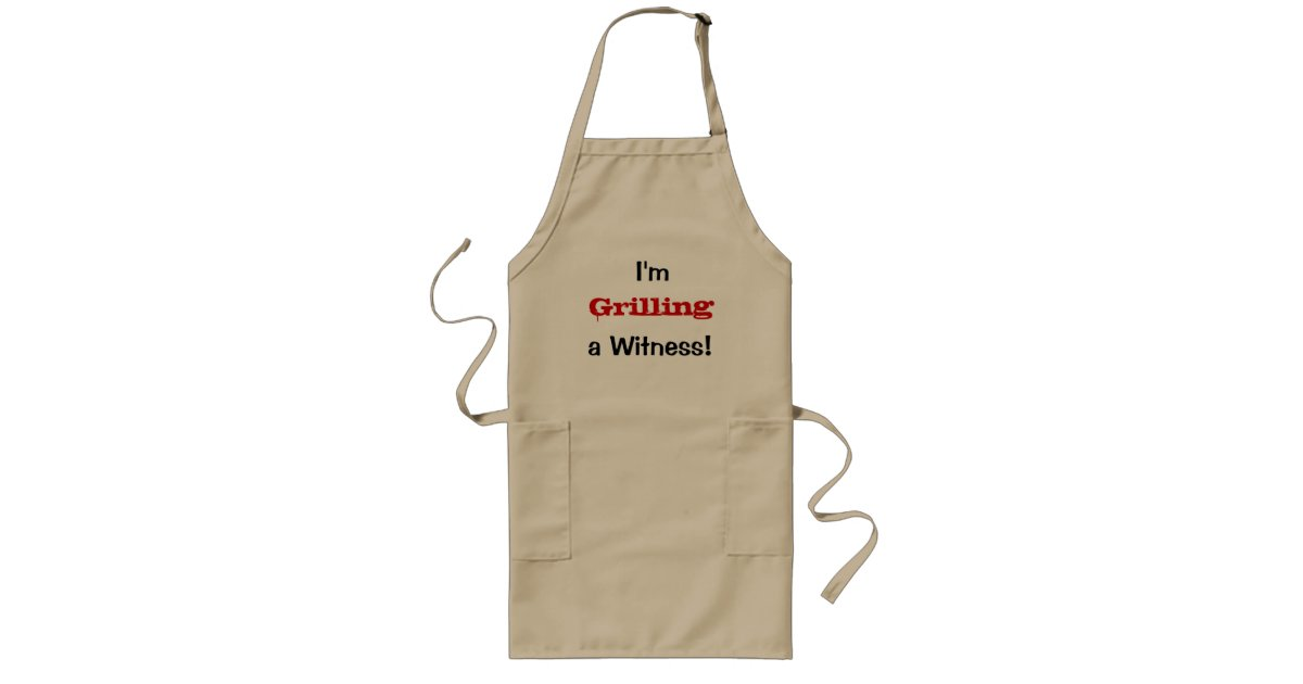 Lawyer Gift - Funny Quote - Grilling Witness Long Apron ...