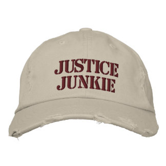 Lawyer Gift - Justice Junkie Cruel Funny Nickname Embroidered Baseball Hat