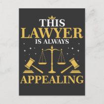 Lawyer Gift Law School Graduation New Attorney Postcard