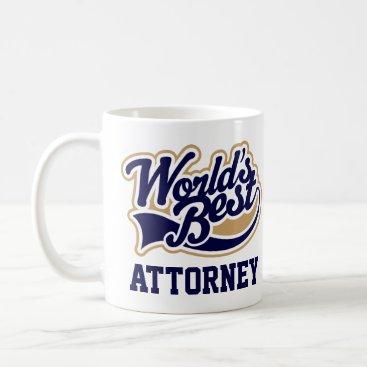 Lawyer Gift Worlds Best Attorney Coffee Mug