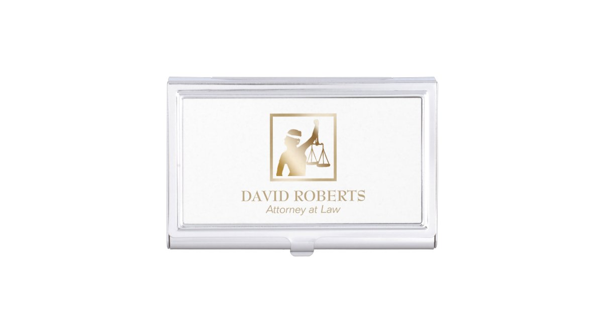 Famous lawyer business card holder images business card ideas lawyer gold lady justice logo attorney at law business card holder reheart Images