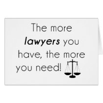 Lawyer humor card