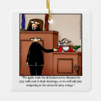 Lawyer Humor Christmas Ornament