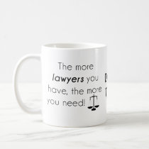 Lawyer humor coffee mug