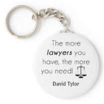Lawyer humor keychain