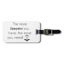Lawyer humor luggage tag