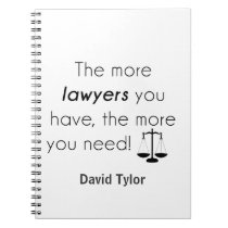 Lawyer humor notebook