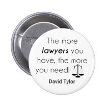 Lawyer humor pinback button