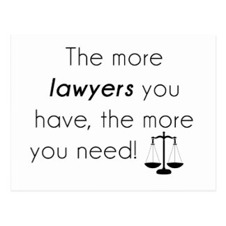 Lawyer humor postcard