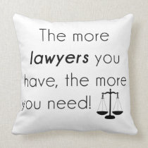 Lawyer humor throw pillow